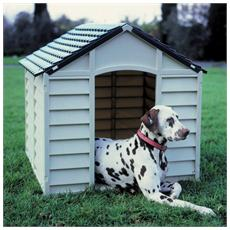 Cuccia Per Cani Cm 71x71x68h Colore Chiaro Verde Plastica Grigio