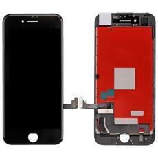 Ricambio Lcd Schermo Display + Touch Screen Unit Digitizer + Frame Nero Per Apple Iphone 7 + Kit Attrezzi Smontaggio