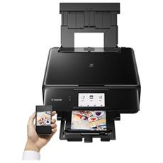 Stampante Multifunzione Pixma TS8150 Inkjet a Colori Stampa Copia Scansione A4 10 Ppm Bluetooth Wi-Fi USB