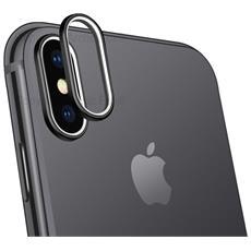 Case Cover Protezione Per Vetro Fotocamera Copri Anello Ring Per Apple Iphone X Nero