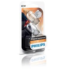 Sentiti al sicuro, guida con sicurezza. Lampade di segnalazione Philips. W21W, 21 W, 12 V.