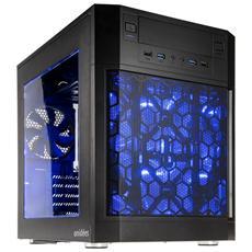 Case AI-7BW Mddle Tower ATX / Mini-ATX / Mini-ITX 3 Porte USB 3.0 Colore Nero (Finestrato)