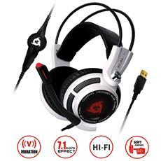 Puma - Micro Headset Da Gaming - Suono Surround 7.1 - Altissima Qualità Audio - Vibrazioni Integrate - Perfette Per Giocare Con Pc E Ps4 Bianco