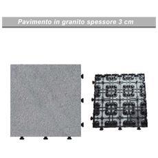Pavimento in pietra galleggiante granito per esterno cm 30x30 pz 6