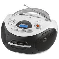 Radio Stereo SR 4353 Lettore CD / Audiocassette Supporta MP3 Display LCD Sintonizzatore FM