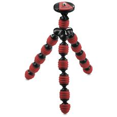Tripod Flessibile Gripping in Gomma colore Rosso