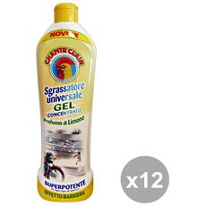Set 12 Sgrassatore Gel Concentrato Limone 450 Ml. Detergent