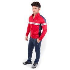 Tuta Full Zip Rosso Blu S