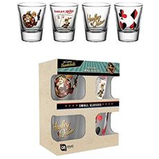 Dc Comics Bombshell - Harley Quinn (Set 4 Bicchieri Piccoli)