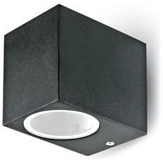 Lampada Da Muro Applique Gu10 Nero Esterno Ip44 Vt-7651 7510