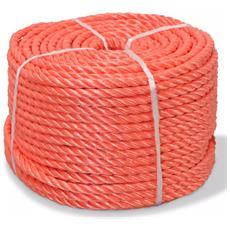 Corda Intrecciata In Polipropilene 8 Mm 200 M Arancione