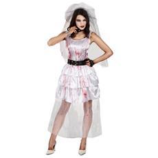 Costume Da Sposa Zombie Di Halloween Per Donna Small