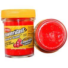 Pasta Powerbait Natural Scent Salmon Red Glitter Rosso Unica