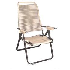Sdraio cordonata schienale ergonomico colore ecru
