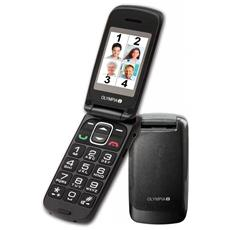 """Classic Mini Senior Phone Colore Antracite Display 2"""" Bluetooth con Tasti Grandi + SOS"""