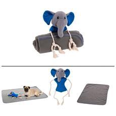 Coperta Per Animali In Pile + Gioco Elefante (70 X 100 Cm)