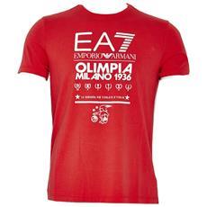 T-shirt Uomo Ea7 Olimpia Milano S Rosso