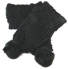 sciarpa a maglia '' nero - 160x95 cm - [ n9434]