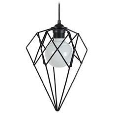 15347 Géometric-lampada A Sospensione A Filo In Acciaio, Finitura Epossidica, Colore: Nero, 300 X 900 Mm