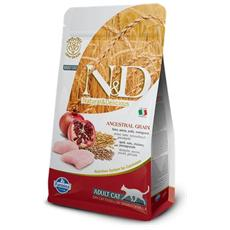 Cibo per gatti N&D Low Grain Feline Adult Pollo e Melograno 5 Kg