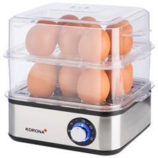 BOMANN uova FORNELLO ek5022cb Bianco-Argento 1 a 6 uova cucinare la colazione NUOVO