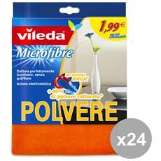 Set 24 Panno Polvere Microfibra Flash 1.99 Attrezzi Pulizie