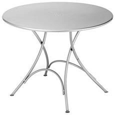 Tavolo Pieghevole Rotondo Pigalle Cm. 105 Colore Alluminio Cod 20