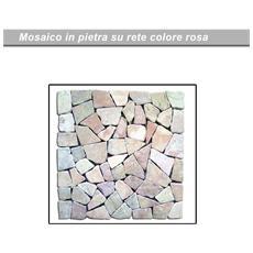 Pavimento in ciottoli levigati da giardino per esterno rosa cm 30x30 pz11