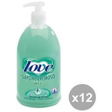 Set 12 Sapone Liquido M. bianco 1 Lt. Saponi E Cosmetici