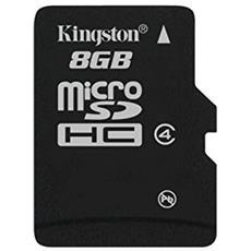 MicroSD da 8GB classe 4 Senza Adattatore