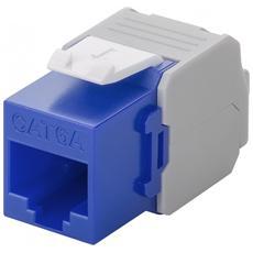 IWP-MD C6A / BLW - Frutto Keystone RJ45 Cat6A UTP 500MHz Blu