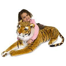 Melissa & Doug Tiger Tigre Plastica, Poliestere Nero, Arancione, Bianco