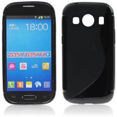 Custodia Back Lux per Samsung Galaxy Ace 4 G357Fz, Style Lte Nero S Line