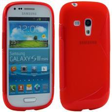 Cover S-Line Rossa in silicone per Samsung Galaxy S3 mini