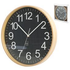 Orologio Parete Legno Tondo Cm32 Arredo Casa
