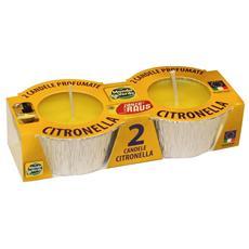 2 Candele Alla Citronella, Stagnola, Paraffina Pura