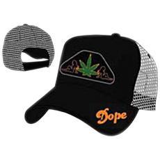 Dope Orange On Black & Leaf (Cappellino)