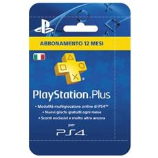 SONY - PlayStation Plus Card Hang Abbonamento 12 Mesi