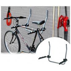 Supporto Da Parete Per Biciclette Staffa Appendi Bici Garage Cantina Gancio Per 2 Biciclette 31232