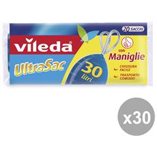 Set 30 57x57 Con Maniglie Univ. x 20 Pezzi Vileda Riordino