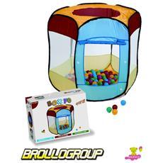 Gioco Box 70 Palline Plastica Popup Giochi *00624