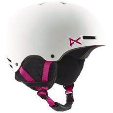 Casco Snowboard Donna Greta Ski Helmet M Bianco Rosa