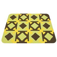 Tappeto Gioco, Marrone / giallo / verde 103.5 X 138 Cm