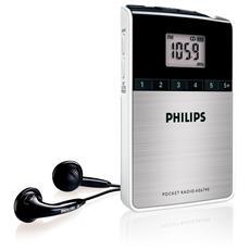 Radio Portatile AE6790 con Orologio Colore Bianco Argento