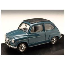 Bm0318-09 Fiat 600d Trasformabile Chiusa 1960 Bleu 404 1:43 Modellino