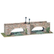 40253 Ponte 3 A Doppo Arco In Pietra Pcs 2126 1:87 Kit Modellino