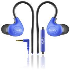 Oval Auricolare Stereo Sport con Archetto Flessibile Colore Blu