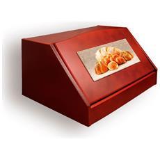 Portapane Con Decoro In 'variety Of Bread Noce' In Legno Noce Dalle Dimensioni Di 30x40x20 Cm