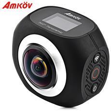 Amkov Amk360s 2.7k Wifi Action Camera Sportiva Con Telecomando Panorama A 360 Gradi