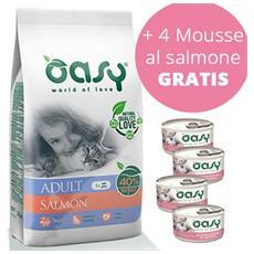 Cibo per gatti Adult Cat Salmone 1,5 Kg + 4 mousse da 85 gr